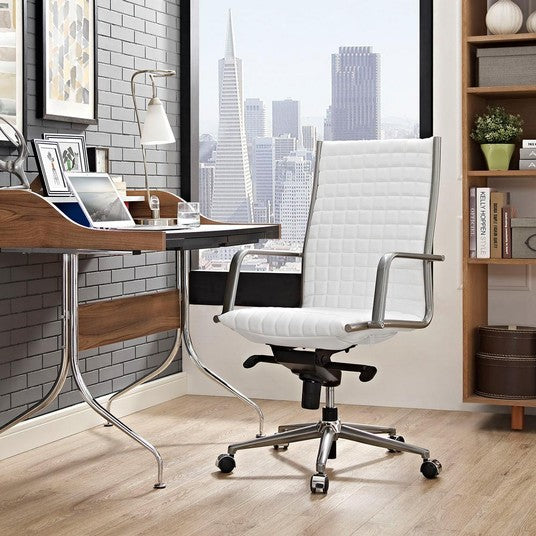 MODWAY Pattern Highback Office Chair in White