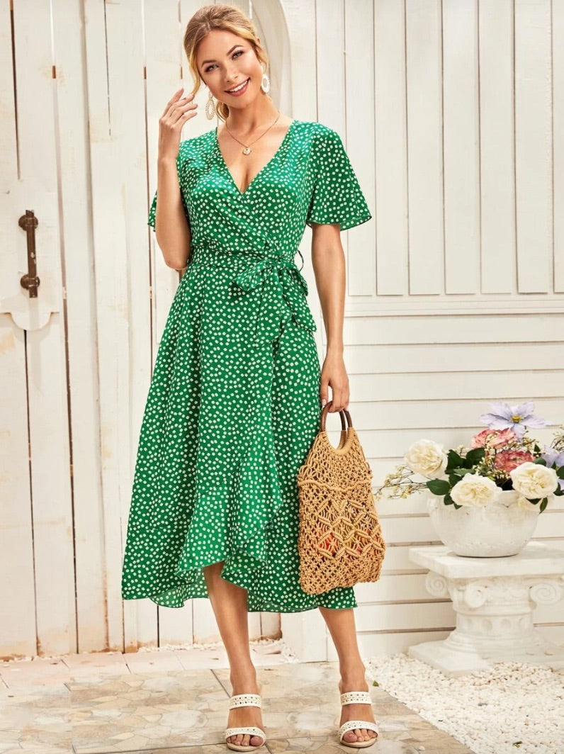 SHEIN green dress