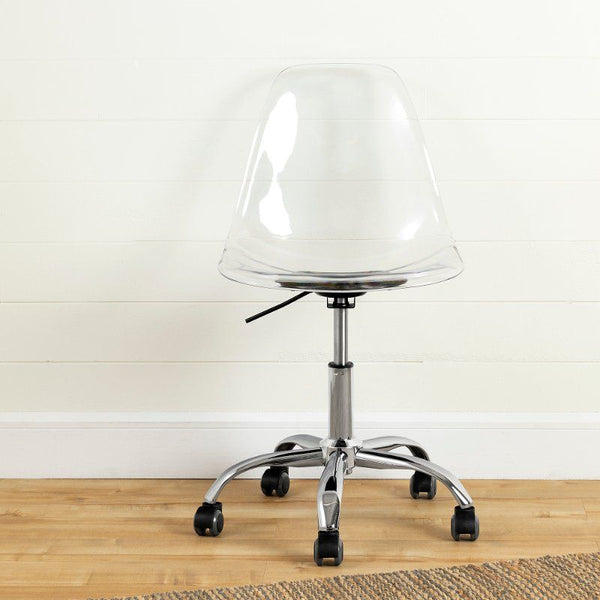 Clear Acrylic Office Chair with Wheels