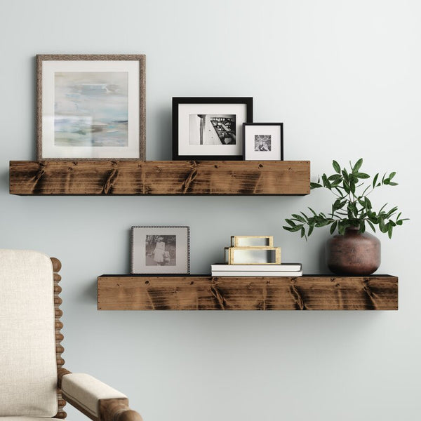 Reclaimed Wood Floating shelf, Rustic Kitchen floating shelves, Farmhouse kitchen floating shelf