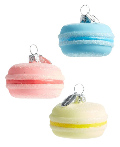 Set of 3 Glass Macaron Ornaments NORDSTROM