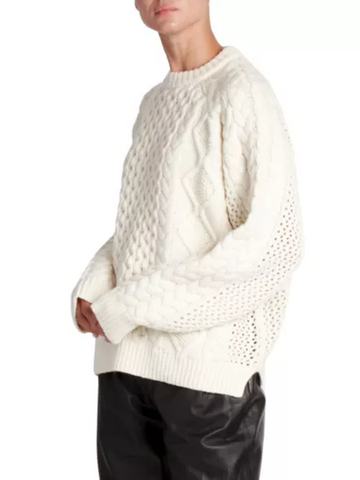 Ciprianu Cable Knit Wool & Cashmere Sweater