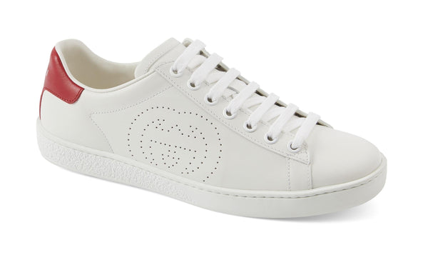New Ace Perforated Logo Sneaker GUCCI