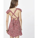 Back Cross Tie Little Dress