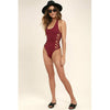 Bermuda | Strappy Sides Halter One Piece