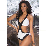 Calvi | Black And White Cut Out One Piece