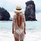 Crochet Backless Dress
