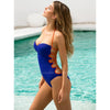 Galapagos | Strappy Back Sporty Halter One Piece Swimsuit