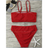 Ipanema | Red Strapless High Waist Bikini