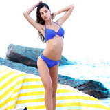 Palmilla | Basic Push Up Royal Blue Bikini