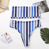 Salema | Stripes Bandeau Cheeky Bikini