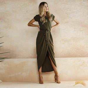 Wrapping Belted Dress