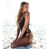 Treasure Beach | Side Lace Up Colorful One Piece