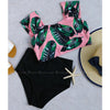 Aruba | Highwaisted Retro Bikini With Tropical Print