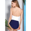 Biarritz | Color Block Strapless Underwire Retro One Piece Swimsuit