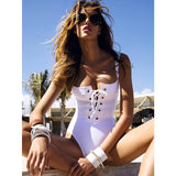 Cartagena | Sporty Drawstring One Piece Swimsuit