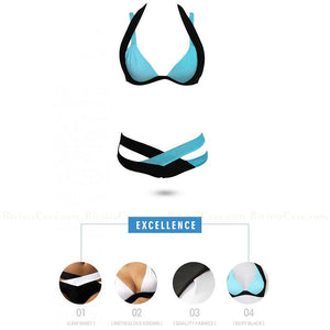 Napoli | Color Block Halter Push Up Bikini