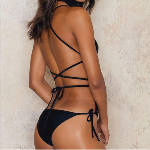 Palermo | Strappy Wrap Black One Piece Swimsuit