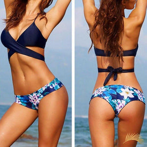 Punta Cana | Wrap Around Bikini With Floral Printed Bottom