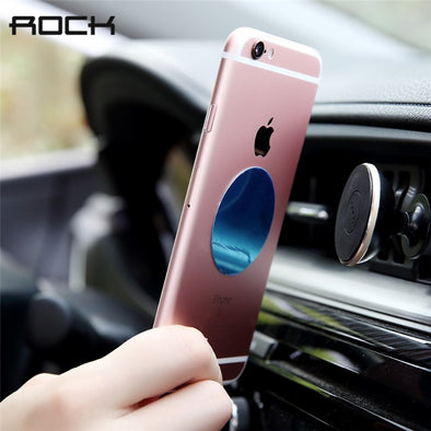 Rock Magnetic Car Holder For iPhone Samsung Phone Stand Holder 360 Degree Soporte Movil For 4-6 inch