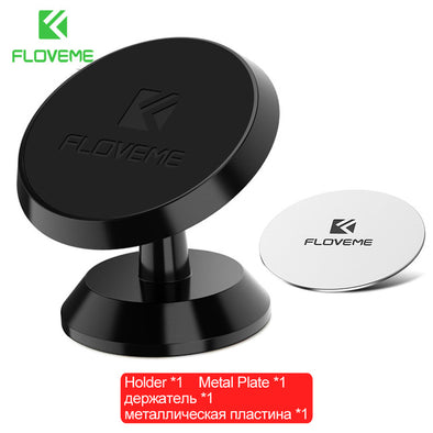 FLOVEME Magnetic Car Phone Holder For iPhone 8 SE For Samsung S8 Phone Magnet Car Holder GPS Dashboard Stand Soporte Movil Auto