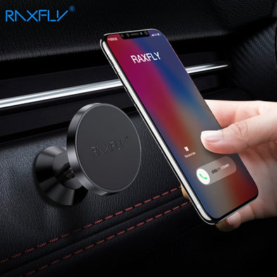 RAXFLY Magnetic Car Holder Stand Mobile Phone Car Holder Magnet Stand For Phone Xiaomi Soporte Movil Coche Auto telefon tutucu