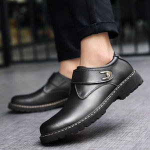 Men Genuine Leather Fashion Casual Shoes