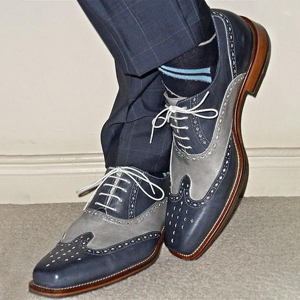 Oxford Style Hand-painted Leather Shoes