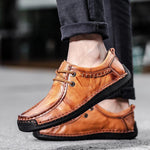 Men Large Size Genuine Leather  Casual Shoes