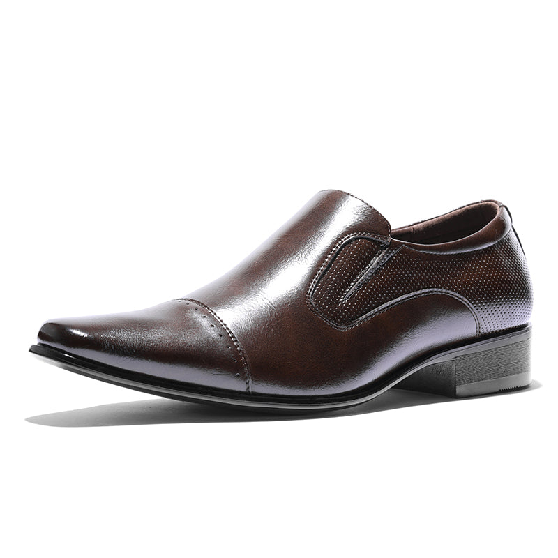 Genuine Leather  Slip On Casual  Dress Shoes