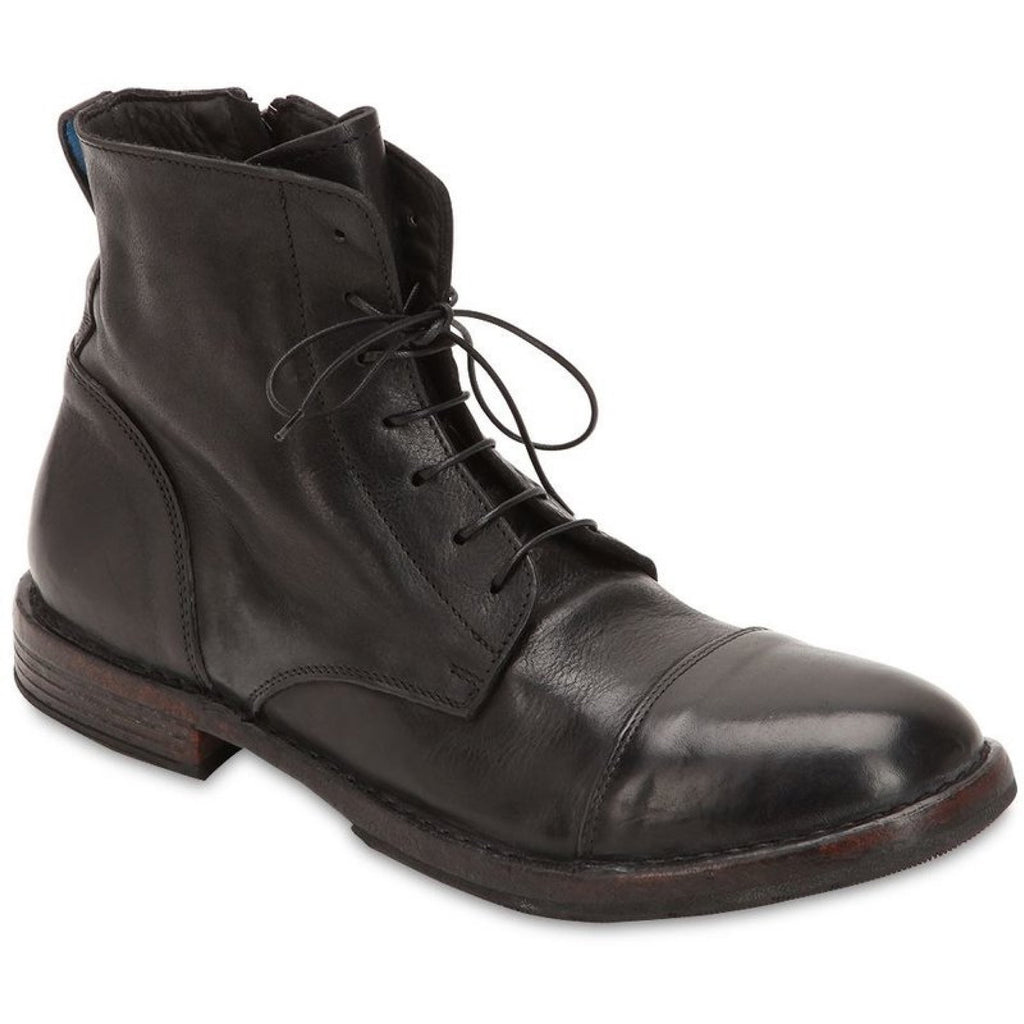 Men Zipped Leather Boots