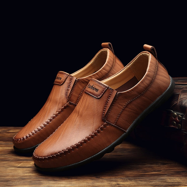 Genuine Leather Vintage Casual Driving Shoes