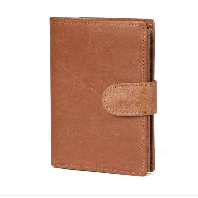 Multi-card Mad Horse Leather Short Wallet