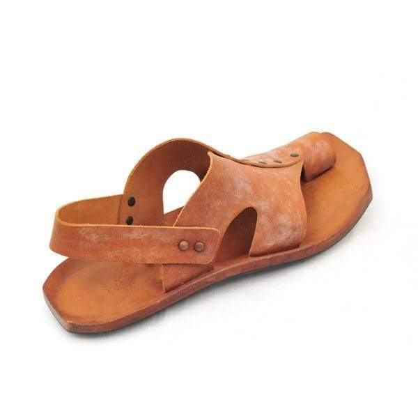 Men Comfy Sandwich Toe Leather Sandals
