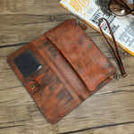 Handmade Brush-off Leather Wallet