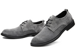 Men Casual Flats Lace Up Suede Oxfords Leather Shoes