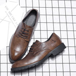 Genuine Leather Comfy Lace Up Formal Shoes