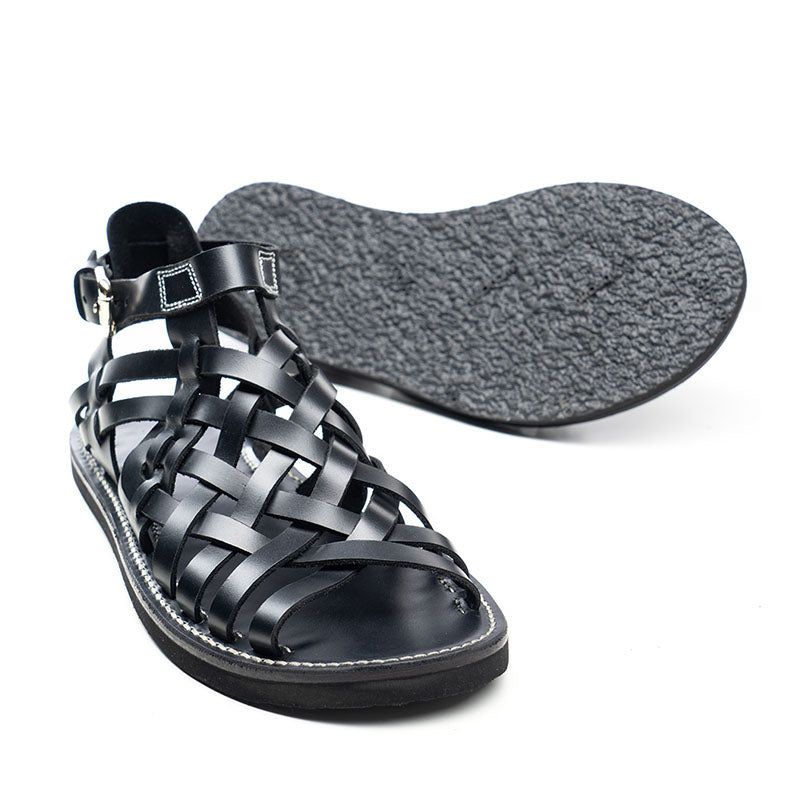 Men Hand-Knitted Vintage Leather Sandals