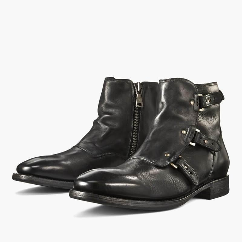 Genuine Leather Knight Boots