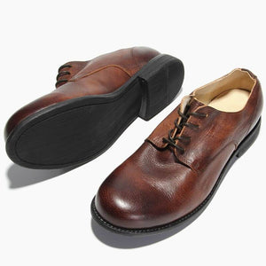 Handmade Vintage Brush-off Italy Casual Leather Shoes