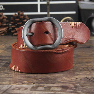 Men Vintage Casual Leather Belt