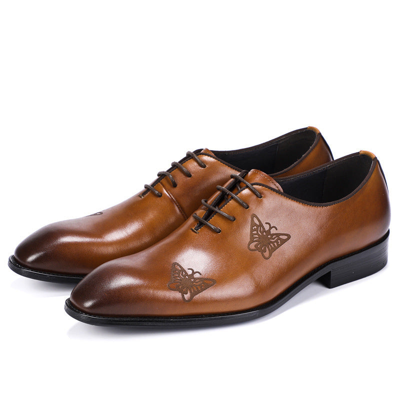 Genuine Leather Comfy Whole Cut Formal Shoes