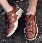Large Size Genuine Leather Fashion Outdoor Hollow Shoes