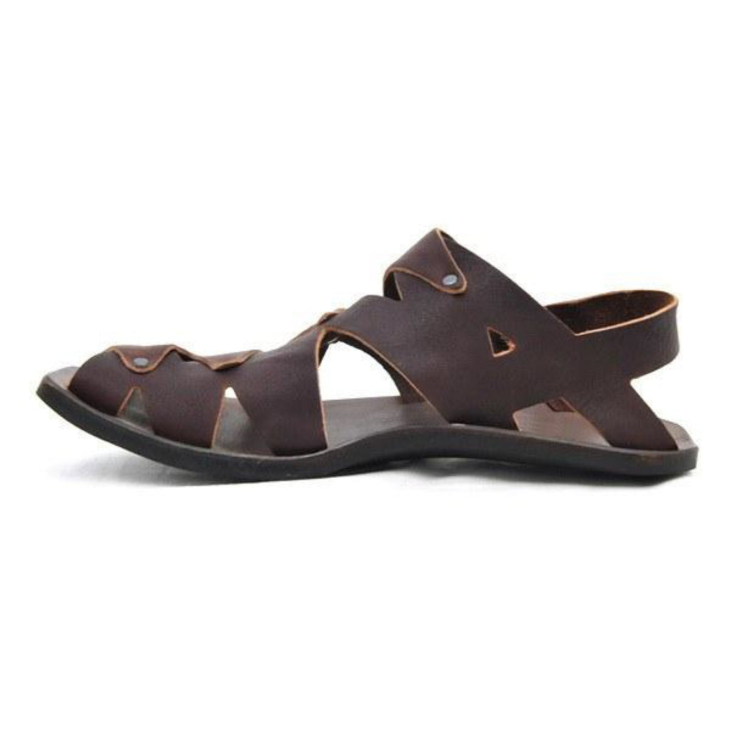 Men Vintage Casual Leather Sandals