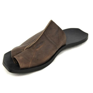 Handmade Genuine Leather Casual Slippers
