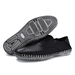 Cow Leather  Hollow Breathable Light Driving Shoes