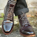 Bordeaux Calfskin Leather Straight Tip Boot