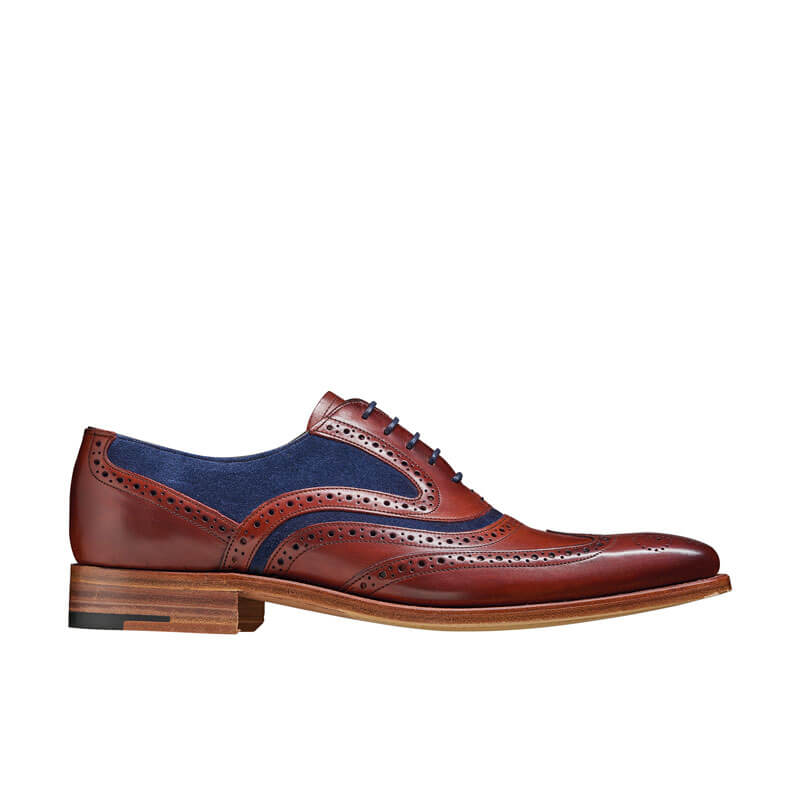 Men Hand Painted Brogue Leather Shoes