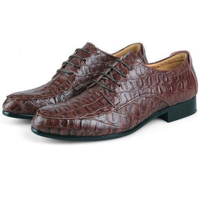 Large Size Men Lace Up Leather Oxfords Pointed Toe Formal Shoes