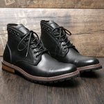 Men Leather Martin Boots